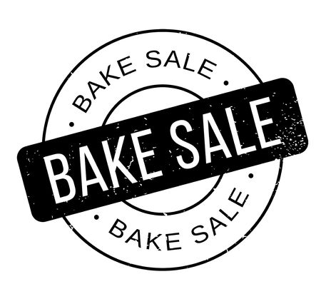 Bake Sale rubber stamp