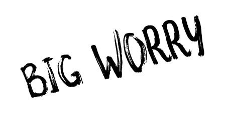 Big Worry rubber stamp Illustration