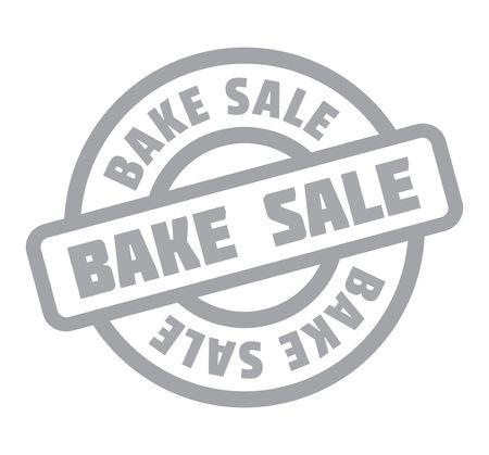 bake sale: Bake Sale rubber stamp