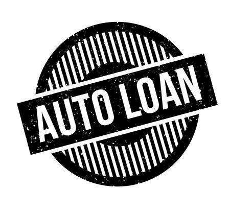 Auto Loan rubber stamp Banco de Imagens - 82319404