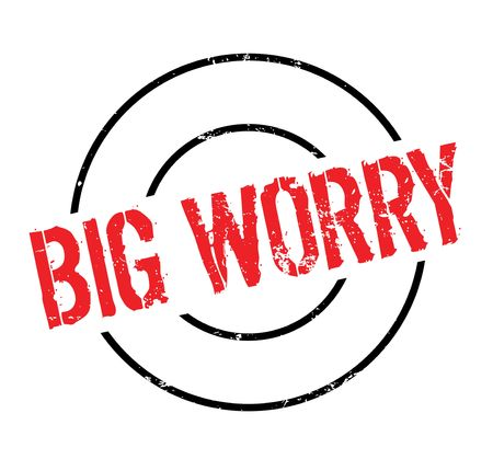 worry: Big Worry rubber stamp Illustration