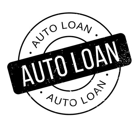 Auto Loan rubber stamp