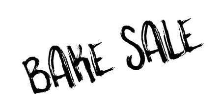 Bake Sale rubber stamp