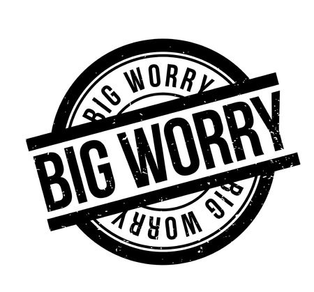 worry: Big Worry rubber stamp Stock Photo