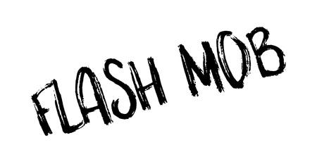 Flash Mob rubberzegel Stock Illustratie