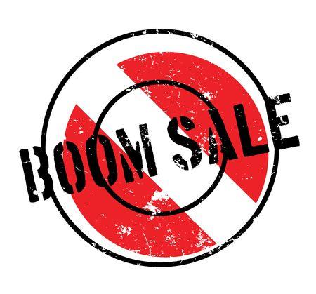 Boom Sale rubber stamp