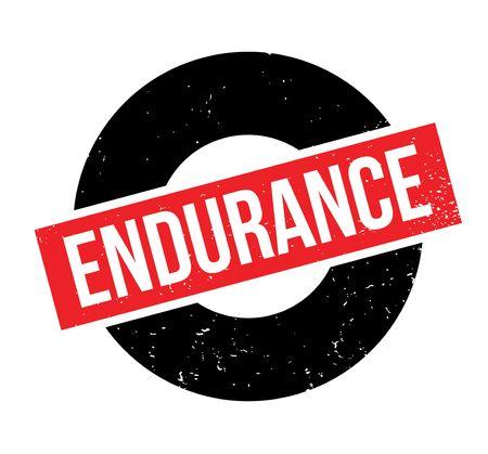Endurance rubber stamp Stock Vector - 82319612