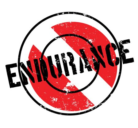 Endurance rubber stamp Stock Vector - 82319621