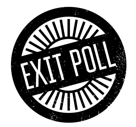 local council election: Exit Poll rubber stamp Illustration