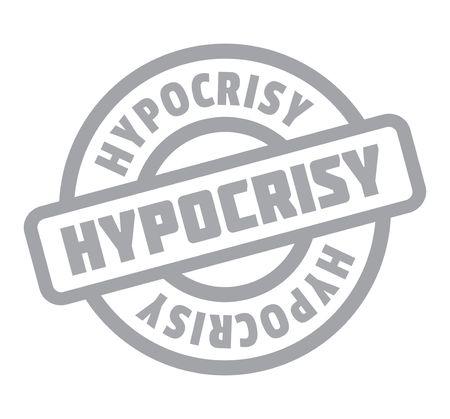 Timbre en caoutchouc hypocrisique Banque d'images - 82320018