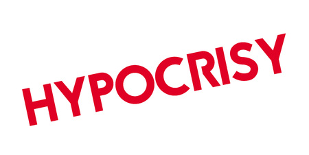 hypocrisy: Hypocrisy rubber stamp Illustration
