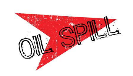 Oil Spill rubber stamp Illustration