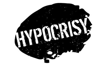 Sello de caucho de la hipocresía Foto de archivo - 82320169