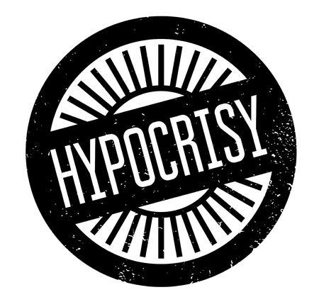 Hypocrisy rubber stamp Stock Vector - 82320226