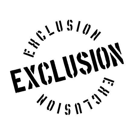 Exclusion rubber stamp Stock Photo - 82323003
