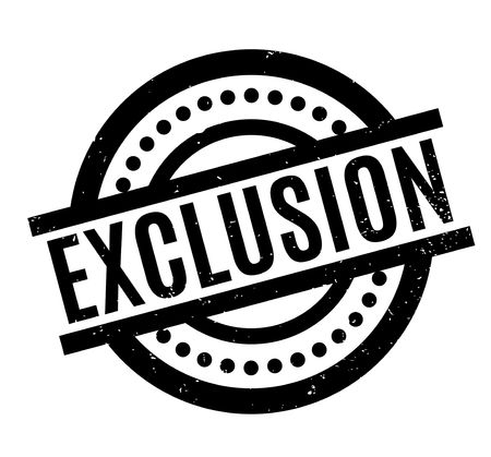Exclusion rubber stamp Stock Photo - 82323138