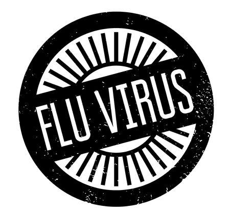 flu virus: Flu Virus rubber stamp