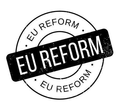 Timbro di gomma della riforma di Eu