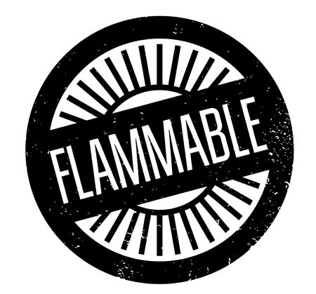 hazard sign: Flammable rubber stamp