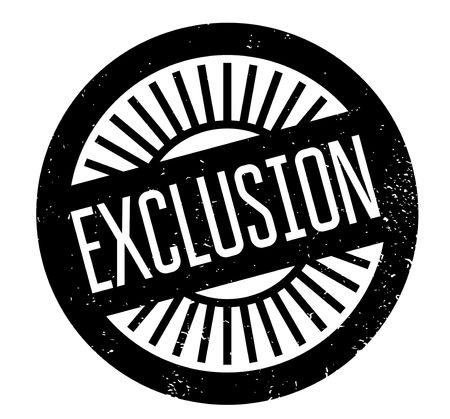 Exclusion rubber stamp Stock Vector - 82397177