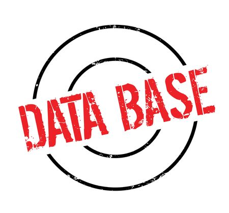Data Base rubberzegel Stock Illustratie