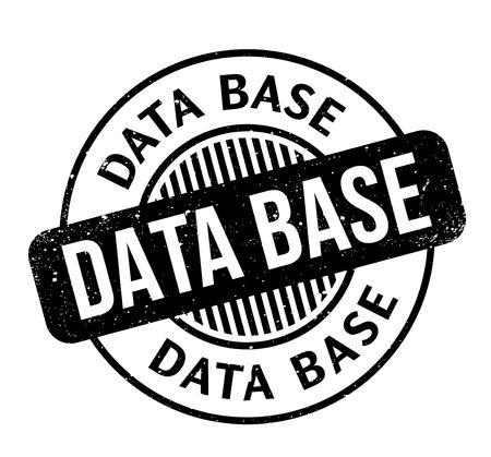 Data Base rubber stamp Illustration