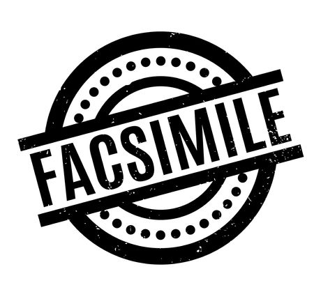 facsimile: Facsimile rubber stamp Illustration