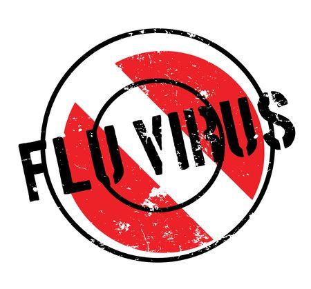 Flu Virus rubber stamp