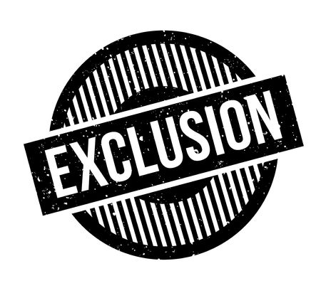 refuse: Exclusion rubber stamp