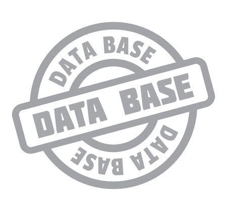 Data Base rubber stamp Иллюстрация