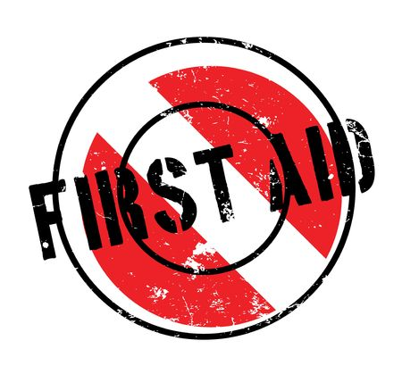 immediate: First Aid rubber stamp