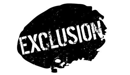 Tampon en caoutchouc d'exclusion Banque d'images - 82339589