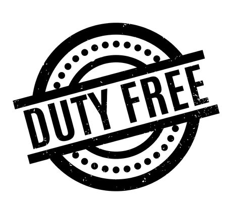 duty free rubber stamp