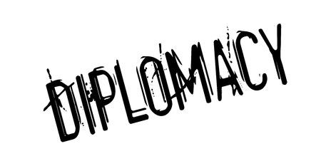 Diplomacy rubber stamp Illustration