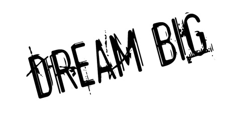 Dream big rubber stamp Banque d'images - 82323696