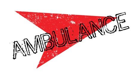 Ambulance rubber stamp