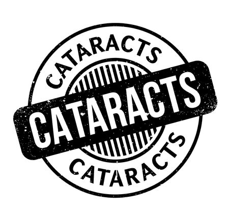 Cataracts rubber stamp Illustration