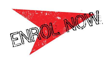 Enrol Now rubber stamp