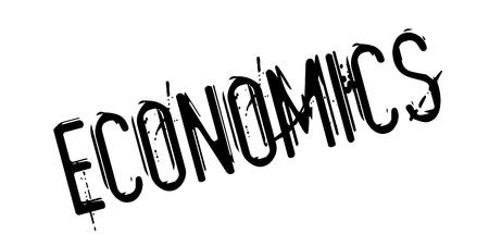 Economics rubber stamp Illustration