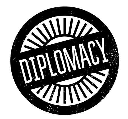 diplomacy: Diplomacy rubber stamp Illustration