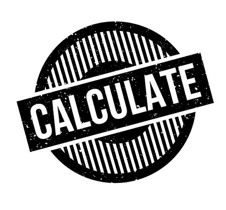 calculate: Calculate rubber stamp Illustration