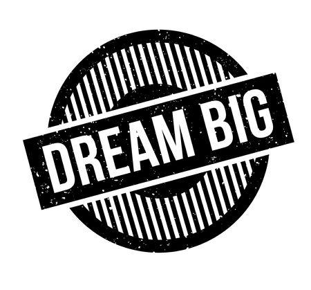 Dream big rubber stamp Banque d'images - 82322789