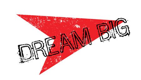 Dream big rubber stamp Banque d'images - 82323505