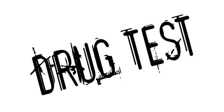 Drug Test rubber stamp Illustration
