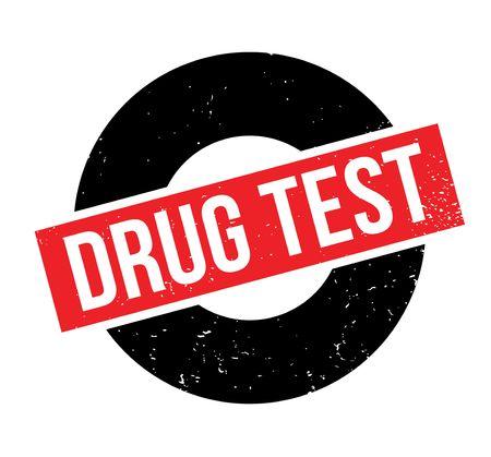 Drug Test rubber stamp. Ilustração