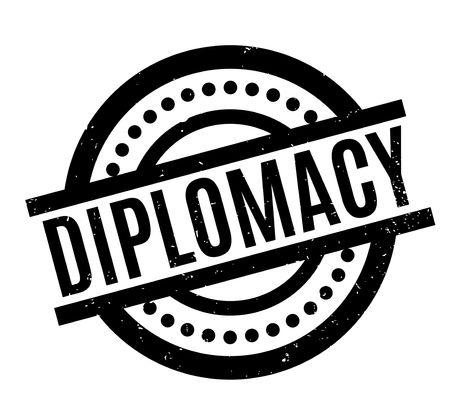 Diplomacy rubber stamp. Stok Fotoğraf - 82323522