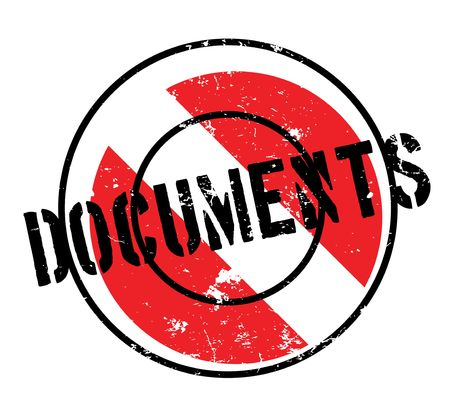 Documents rubber stamp Illustration