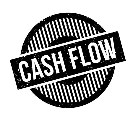 Cash Flow rubber stamp Illustration