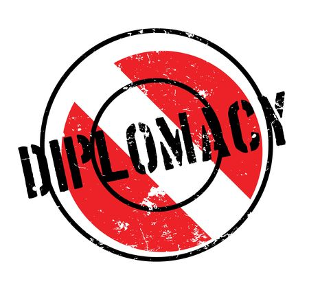 Diplomacy rubber stamp.