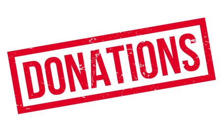 Donaties rubberzegel